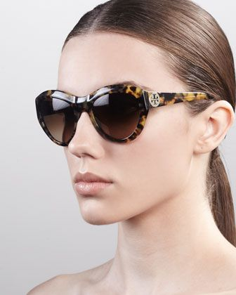 1c3a0f9aa8c Rounded Cat-Eye Sunglasses by Tory Burch at Bergdorf Goodman. Getting these  for the honeymoon!