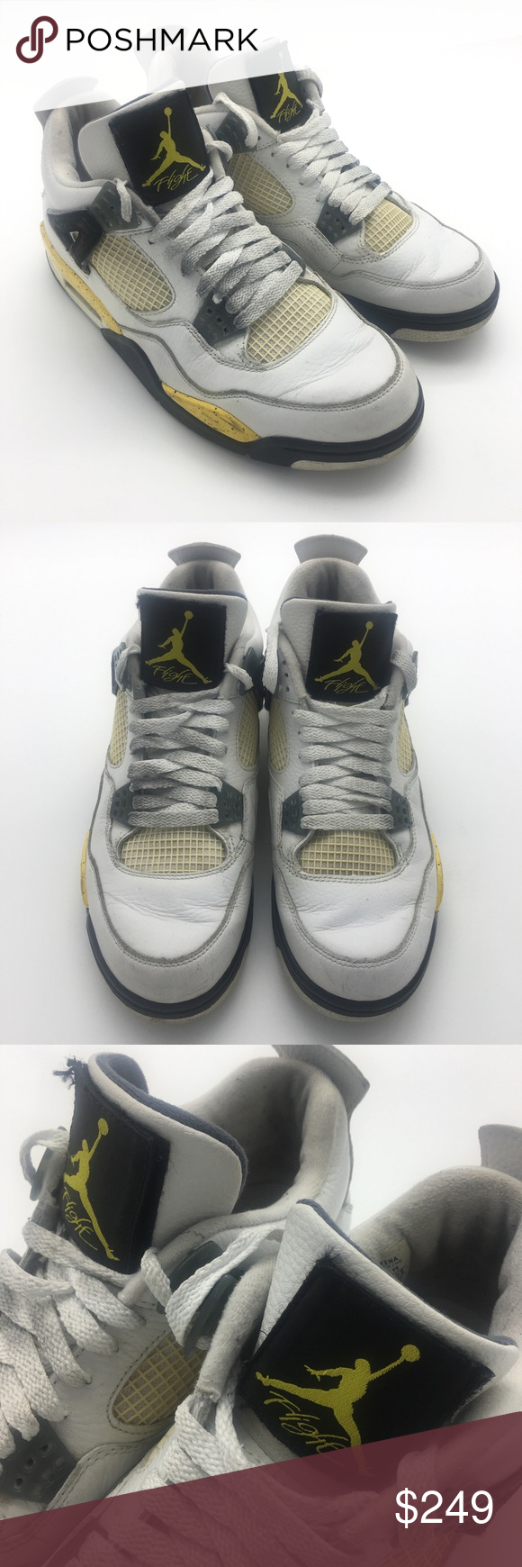 d70d2e532d949c Nike Air Jordan 4 LS White Tour Yellow IV 9.5 Air Jordan 4 Retro LS White  Tour Yellow IV s Size 9.5 2006 314254 171 Great condition for these 2005  Grails.