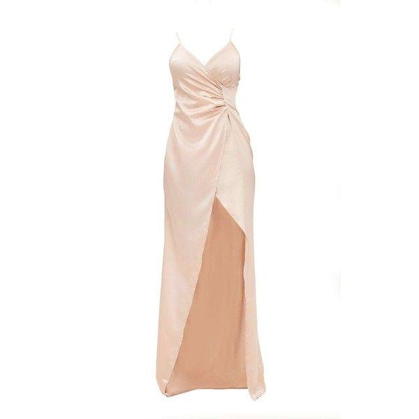 Satin dress maxi white