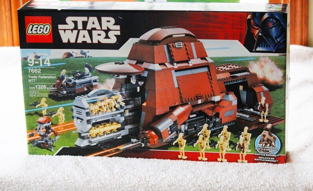 Lego STAR WARS 7662 Trade Federation MTT 1326pc NEW Sealed