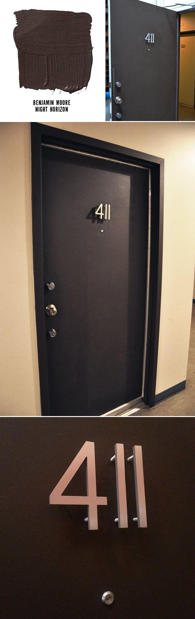 Front Door Makeover | Apartment door, Door signage, Front ...
