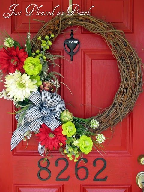 Twig Wreath Accented With Seasonally Appropriate Garland