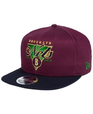 reputable site b1f1d 1645e New Era Brooklyn Nets 90s Throwback 9FIFTY Snapback Cap - Purple Adjustable