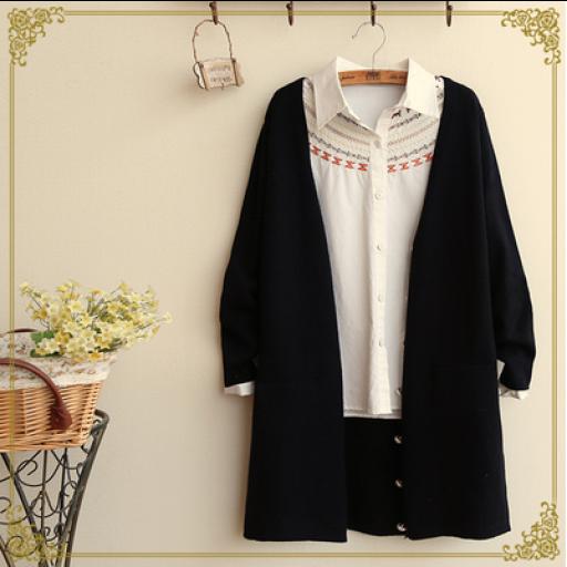 موديلات كارديجان طويل بأزرة بيج Coat Kimono Top Fashion