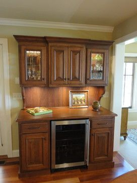 Wine Hutch Cabinet With Refrigerator | Wine Bar Hutch With Refrigerator  Traditional Kitchen