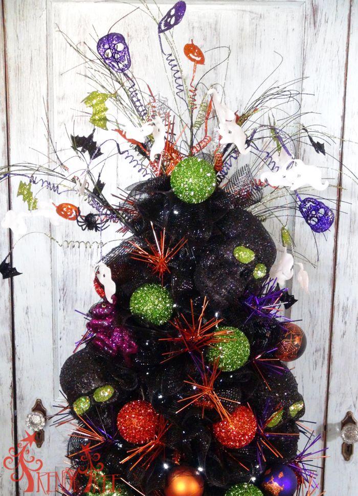 tomato cage halloween tree tutorial - Halloween Tree Ornaments