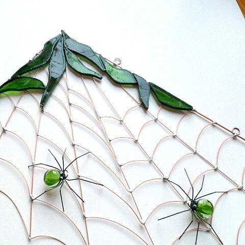 Craft wire fir greens wire center medium handmade copper wire corner spider web in greens pinterest rh pinterest com craft wire gauge chart craft ideas floral wire greentooth Image collections