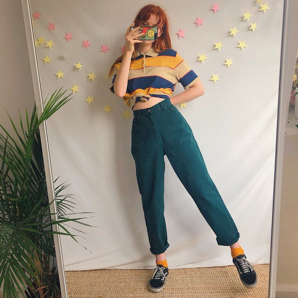 The perfect pair of dark forest green vintage mom jeans ???????? - Depop