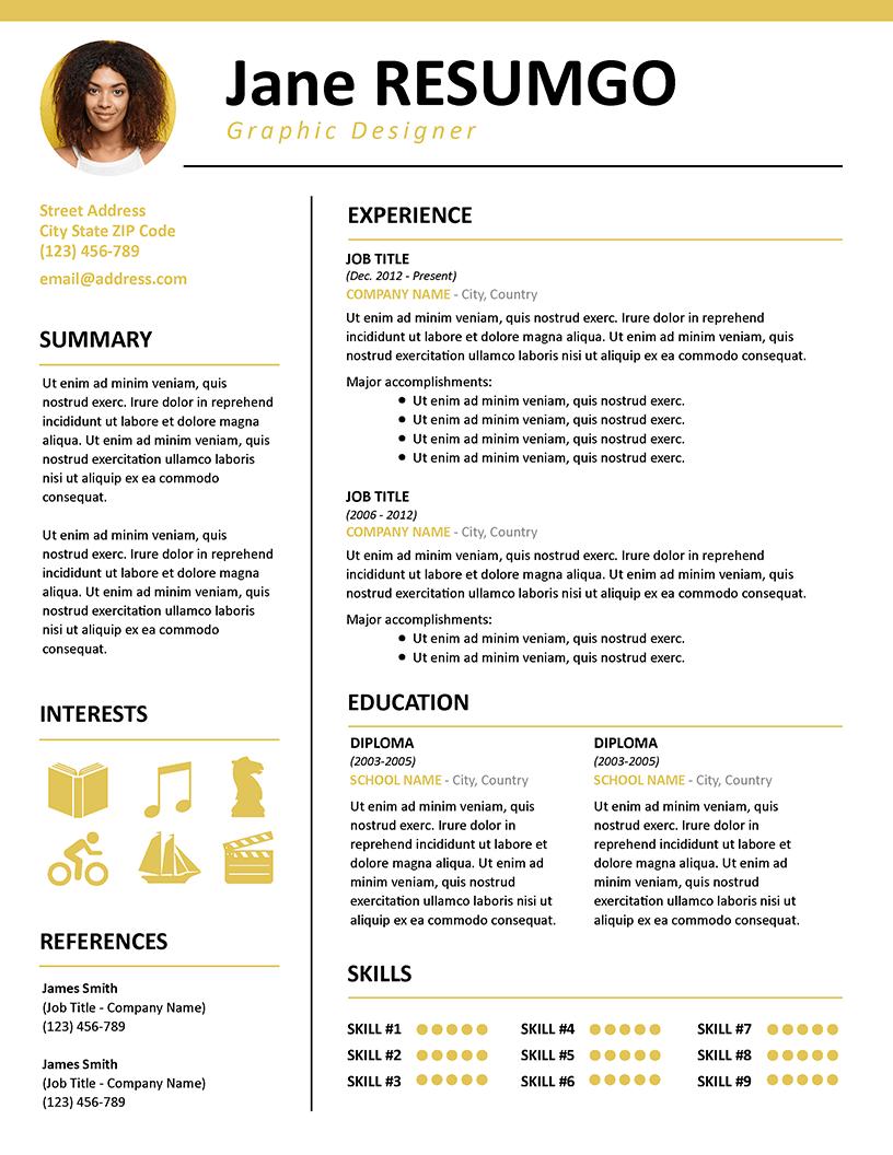 33+ Nice CV Template Professional Fun in 2020 Modern