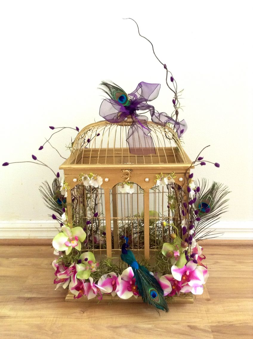 Enchanted Forest Wedding Theme Card Box Bird Cage Wedding Ideas