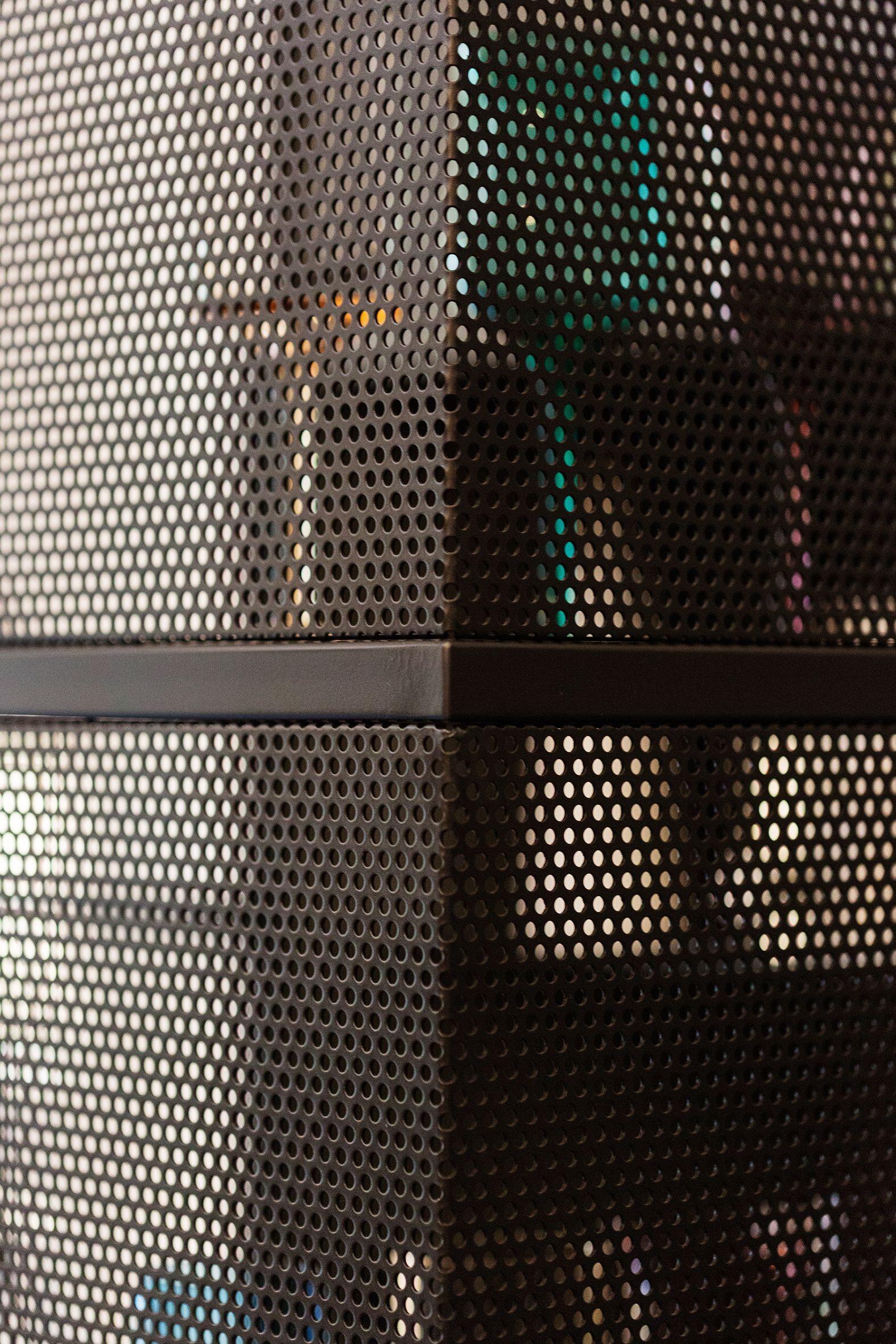Micro Perforated Steel Painted Matt Black By A3lier Design Fabrizio Fobert Architect Black Metal Desk Urban Industrial Decor Steel Cage