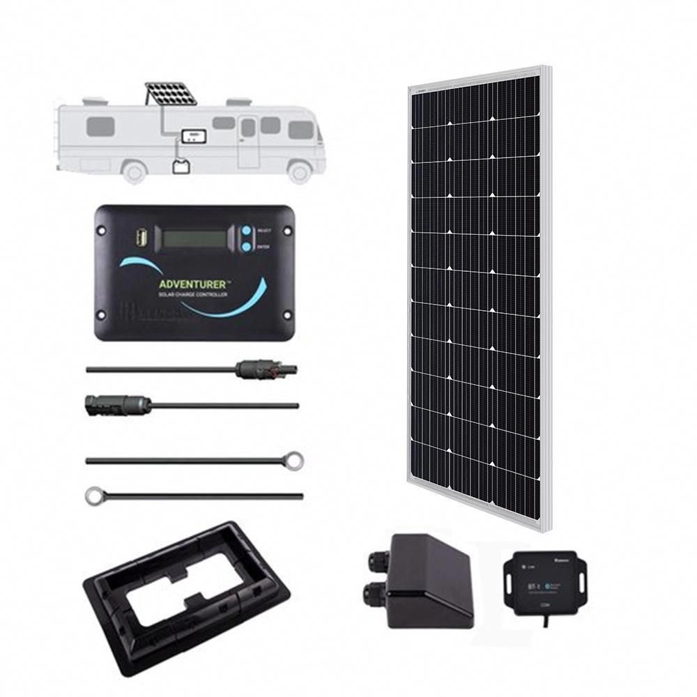 Renogy 100 Watt 12 Volt Off Grid Solar System For Solar Rv Kit Solarpanels Solarenergy Solarpower Solargenerator In 2020 Solar Energy Panels Solar Panels Solar Energy