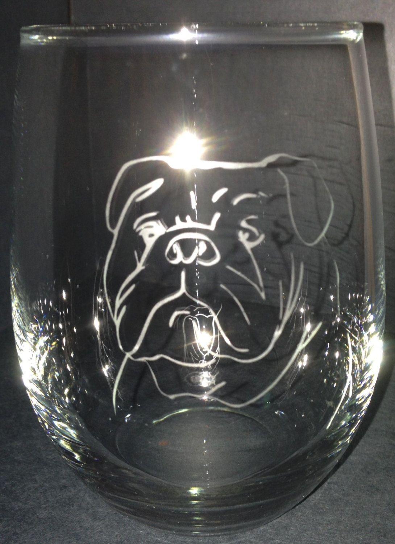 English Bulldog & French Bull dog Glasses by LUV2Etch on