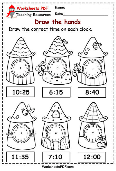 Telling Time To The Hour Worksheets Time Worksheets Telling Time Worksheets Time To The Hour