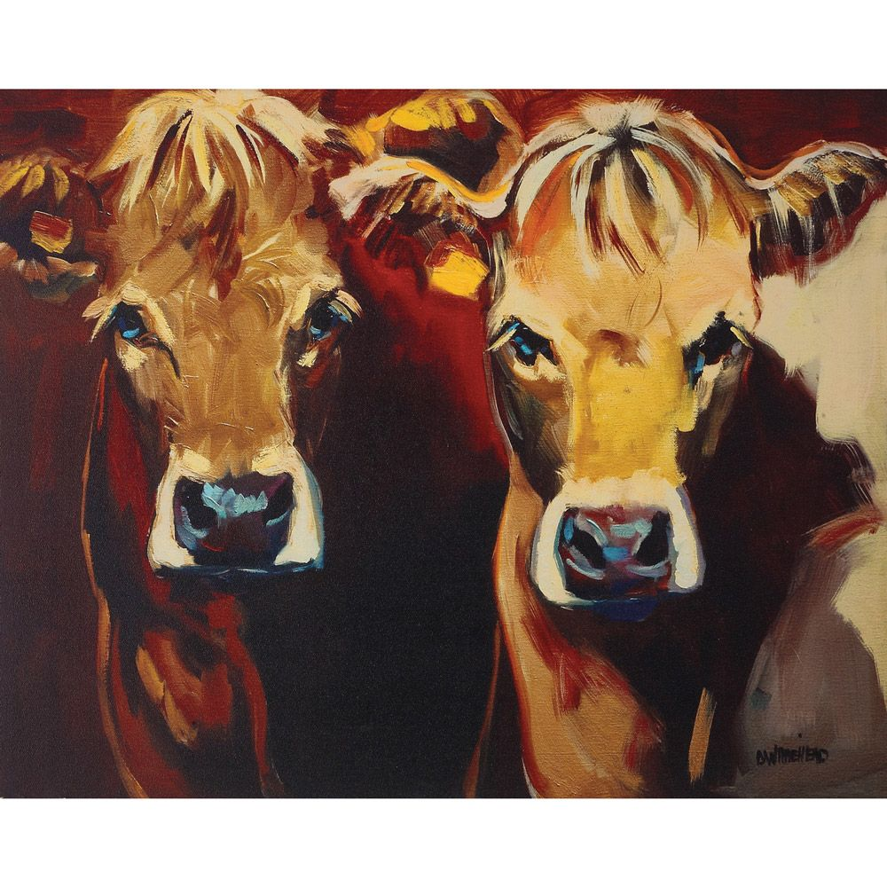 Two Cows Canvas Wall Art Cow Canvas Wall Canvas Canvas Wall Art