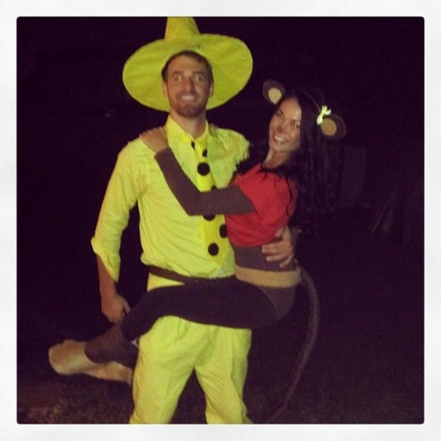 Halloween Couple Costume Curious George Georgette And The Man In