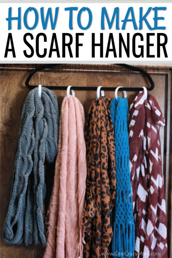 Diy Scarf Organizer How To Make A Scarf Holder In Minutes