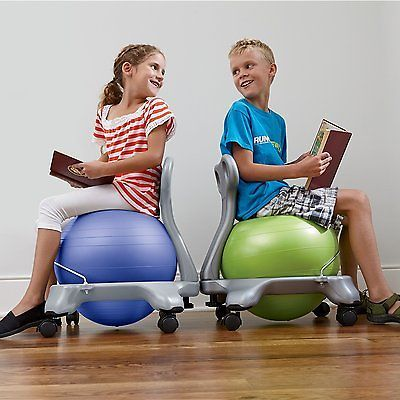 Kids Balance Ball Chair Exercise Fitness Yoga Children Posture Relief Home Gym Balance Ball Chair Ball Chair Kids Chairs