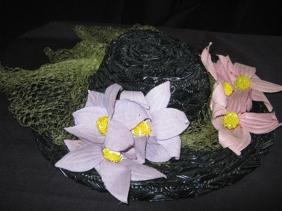 Antique 1910s hat Downton Abbey Daisy's by vintageboxofdelights, $35.00