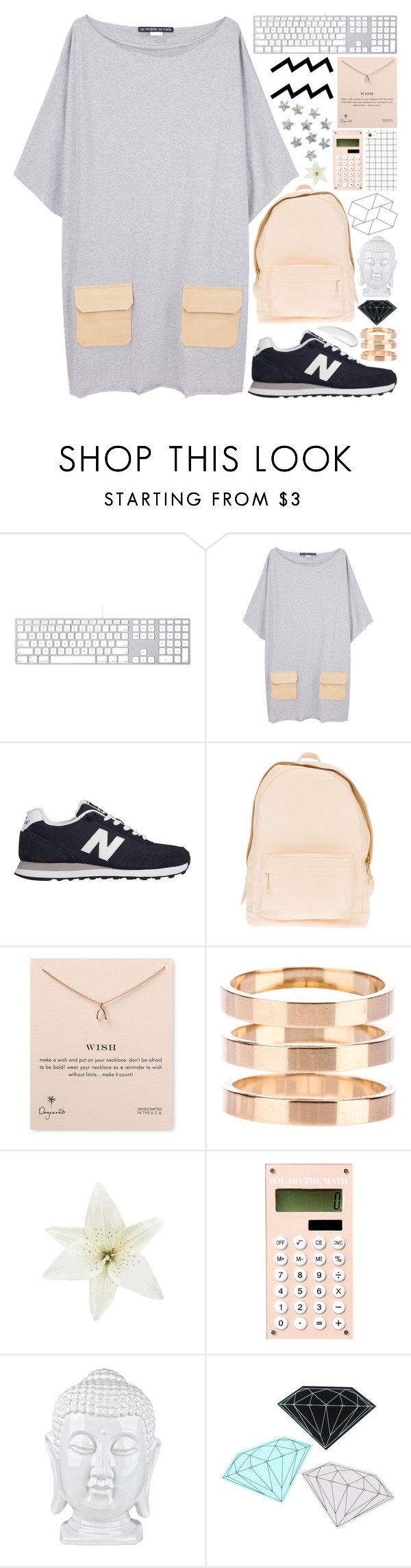 """""""people call me a ghost"""" by indiedarling ❤ liked on Polyvore featuring Les Prairies de Paris, New Balance, PB 0110, Dogeared, Repossi, Clips, Diamond Supply Co., Koh Gen Do, kikitags and lookingforadventures"""