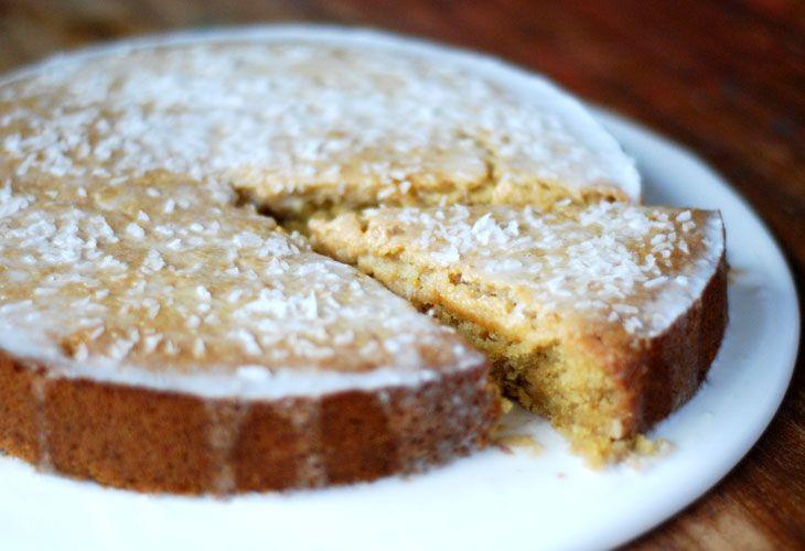Corn and coconut cake coconut cake vegan sweets food