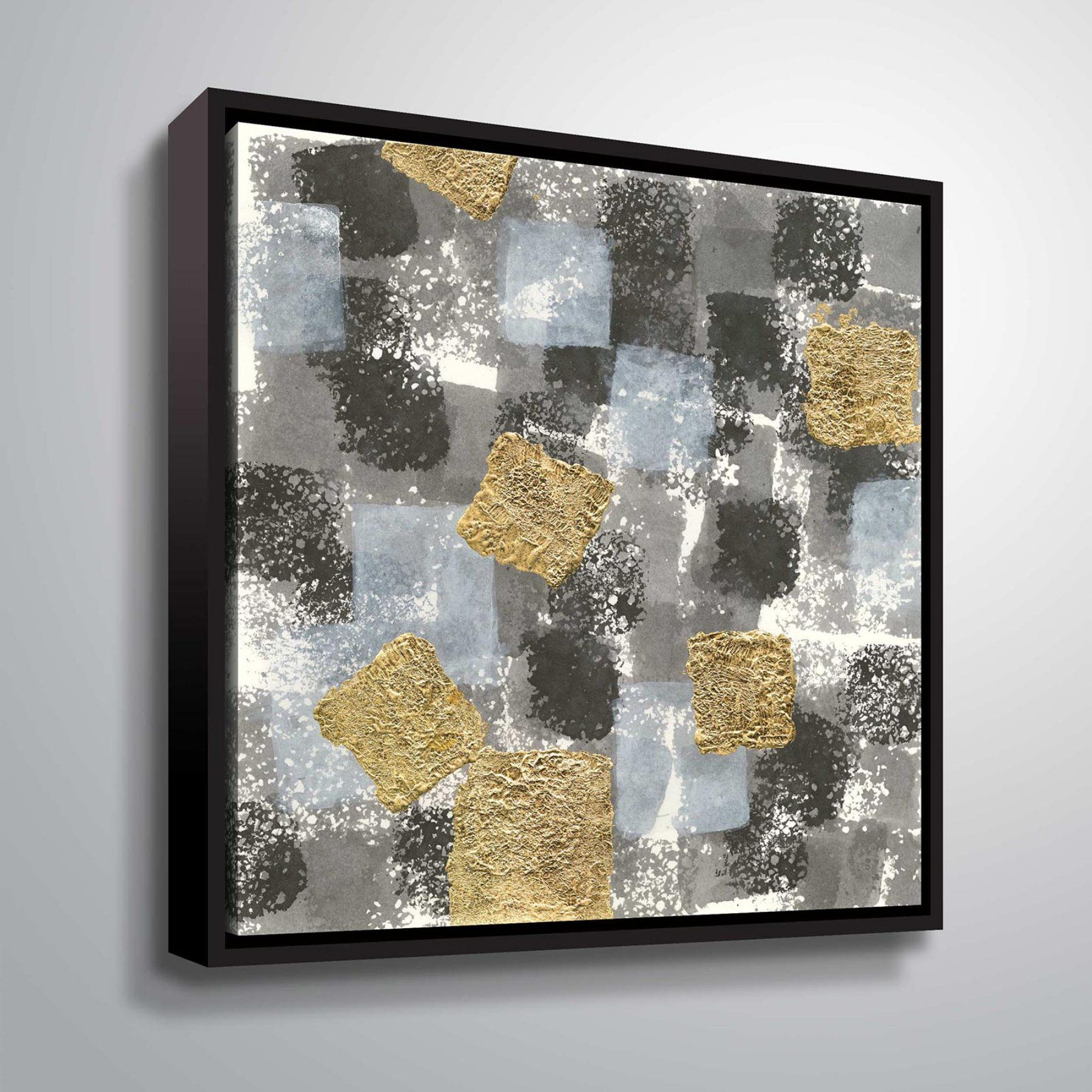 Brushstone Gold Squares Ii Wall Art  2Pas179A1010F