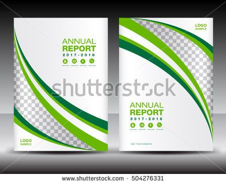 Green and white Cover template, cover annual report, cover design - annual report cover template