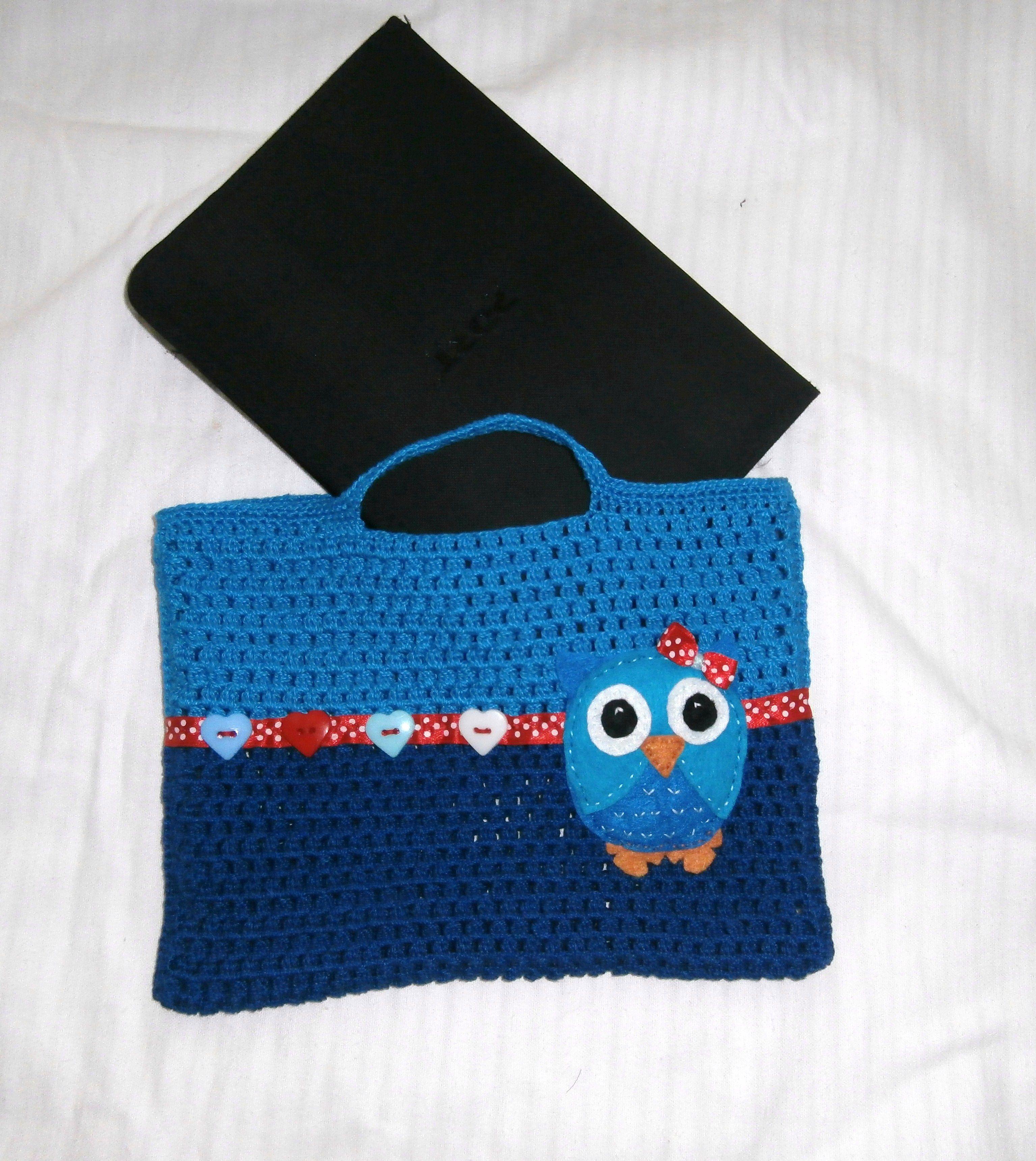 Funda para transportar la tablet a crochet crochet - Fundas para bolsos ...