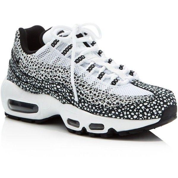 nike air max 95 premium with dot pattern black & white