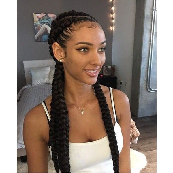 Black Hair Braids Liked On Polyvore Featuring Accessories