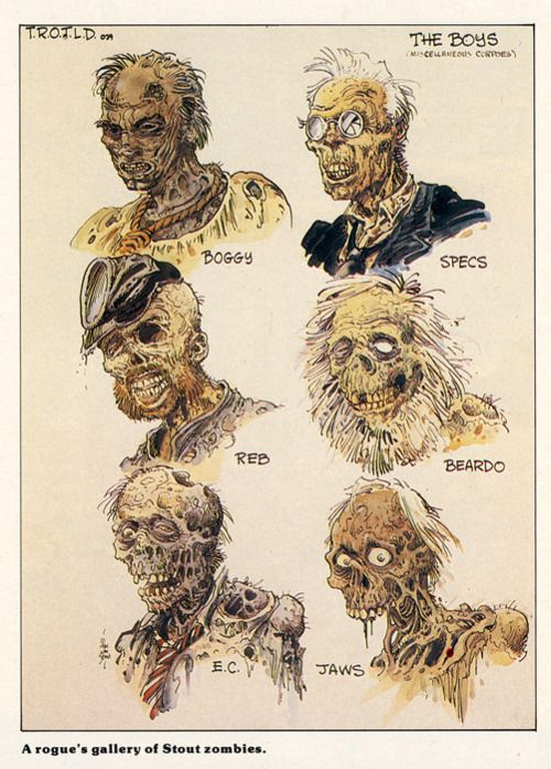 Zombie Designs For RETURN OF THE LIVING DEAD; WILLIAM ...