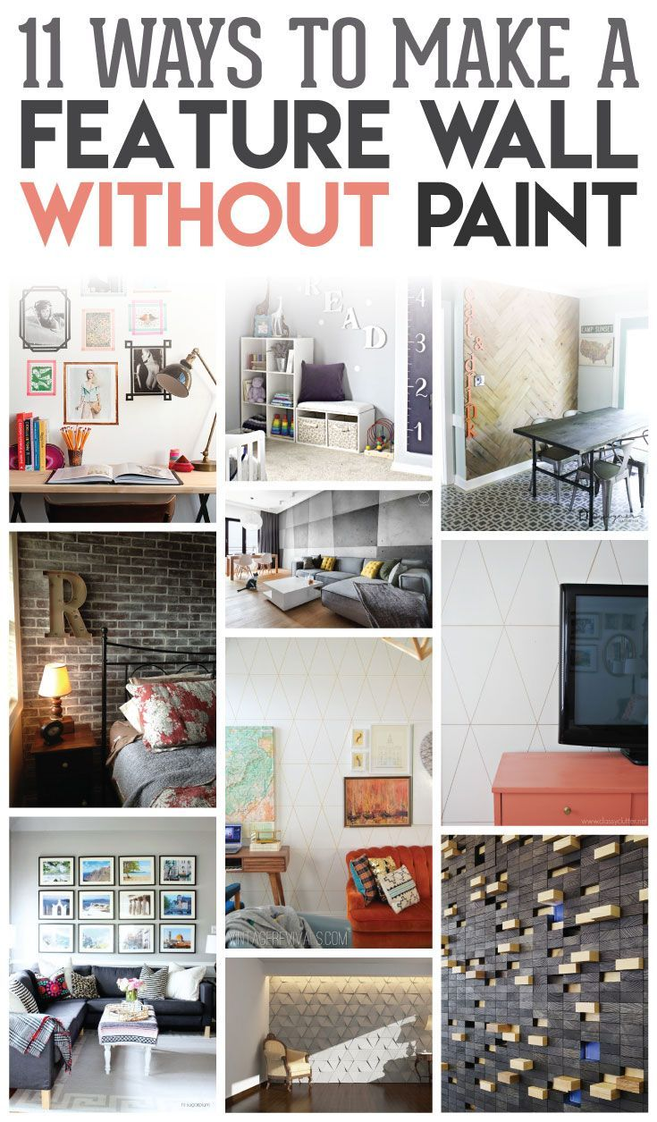 11 Inspiring Ways to Make Feature Walls without Paint | Pinterest ...