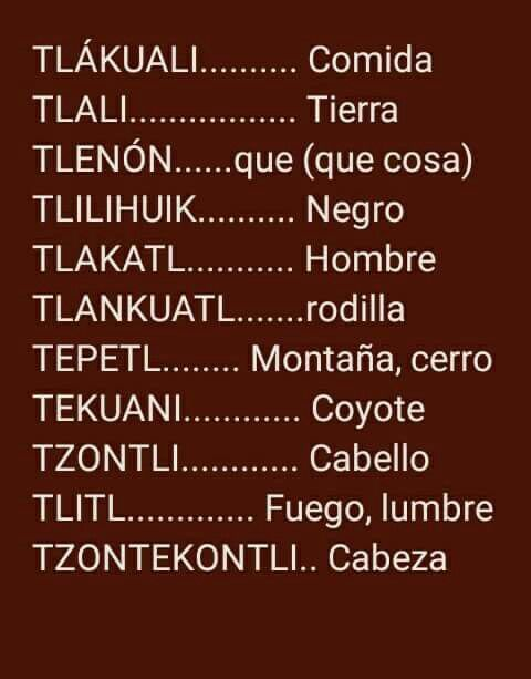 Nahuatl Palabras En Nahuatl Frases Educativas Palabras Extranas