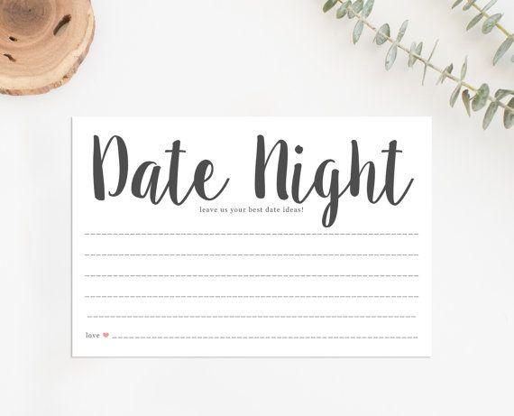 Printable Date Night Cards Printable Bridal Shower Game Date Night Ideas Cards Date Night Cards Bridal Shower Games Bridal Party Games Bridal Shower Games Printable Bridal Shower Games