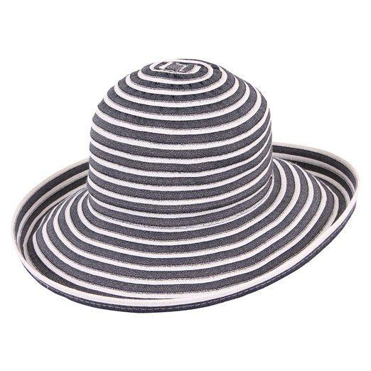 fd34cbab45f Upturn Universal Ladies Sun   Beach Hat (Navy   White) at Amazon Women s  Clothing