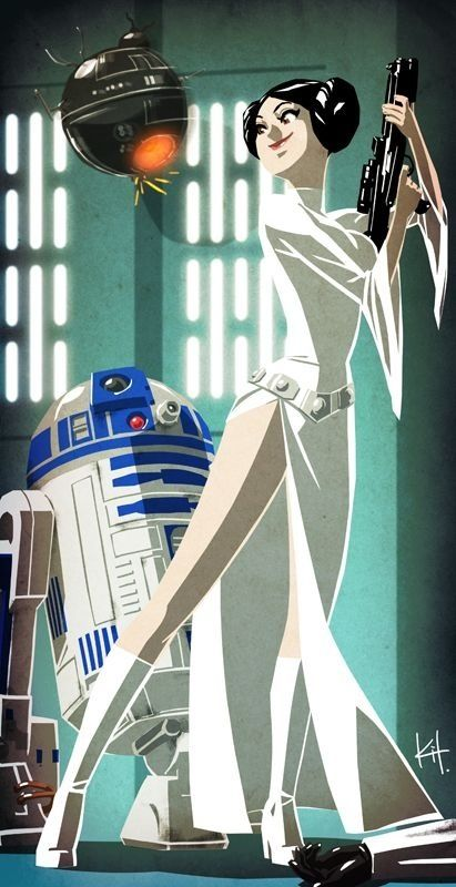 R2d2 Leia Star Wars Iphone Wallpaper Iphone
