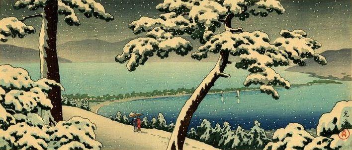 Ama-no Hashidate, by Tsuchiya Koitsu, 1930