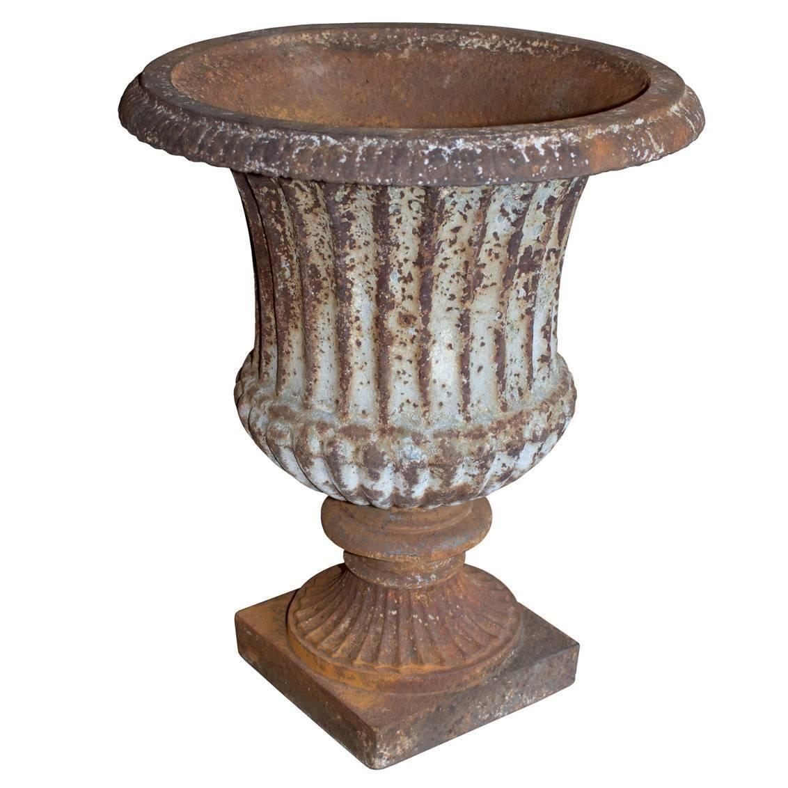 Antique English Cast Iron Urn