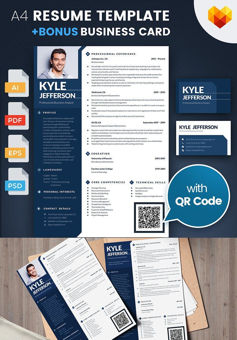 Businessman, Manager and Consultant Resume Template