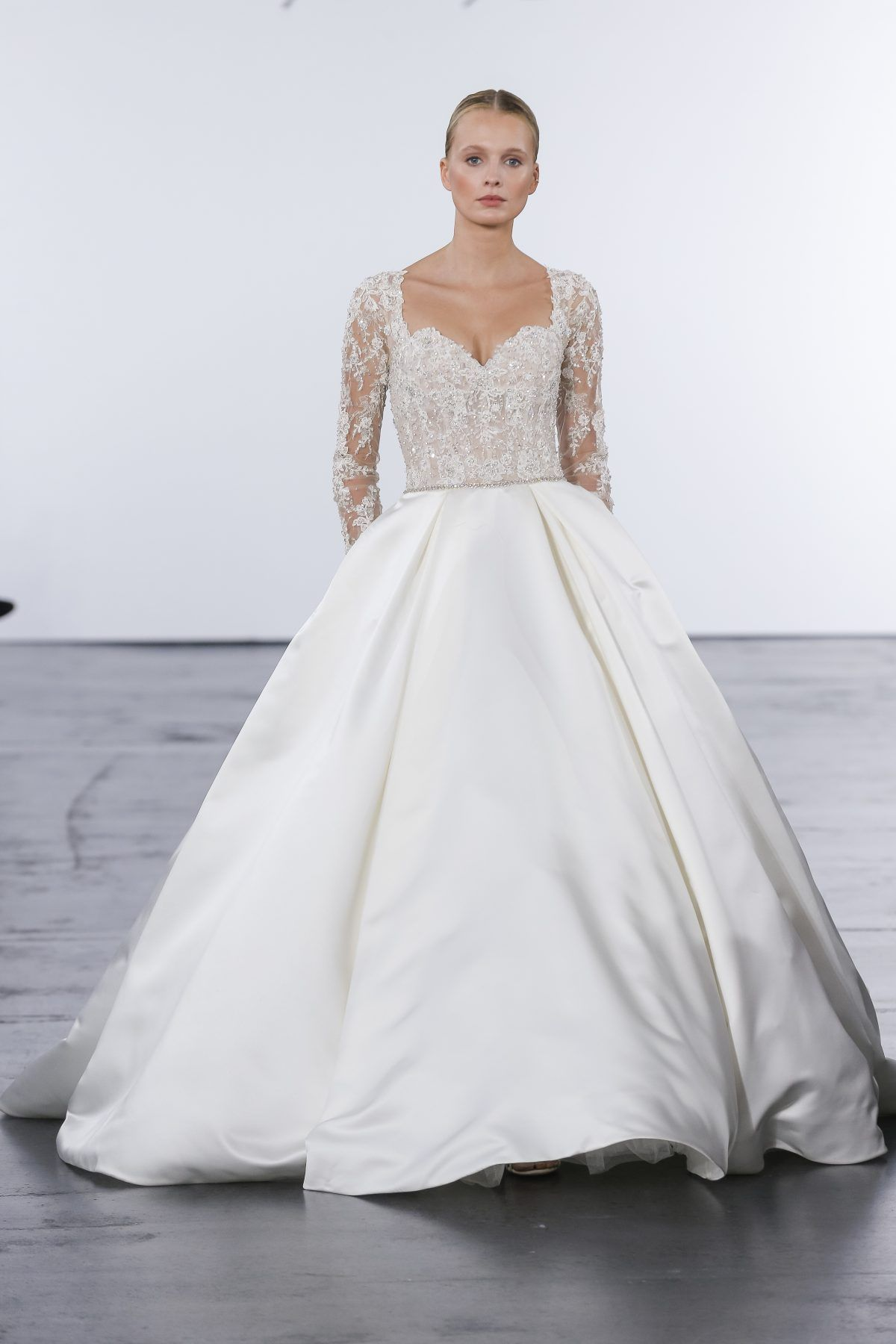 Modern ball gown wedding dress by dennis basso image wedding