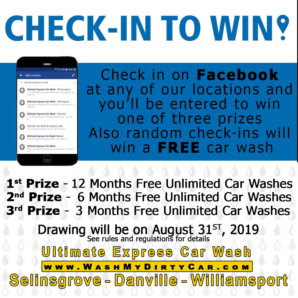 How does a year of free car washes sound? Just check in at