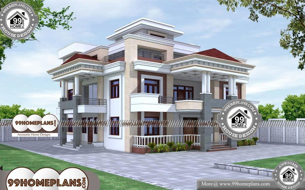New Home Design Plans 90 Small Triple Storey House Plans Designs Home Design Plans Mediterranean House Design Luxury Houses Mansions