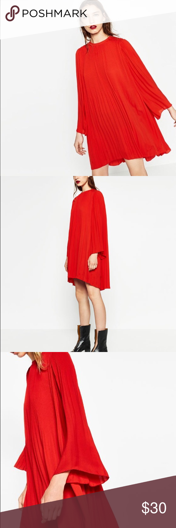 Zara red pleated dress zara dresses conditioning and customer support