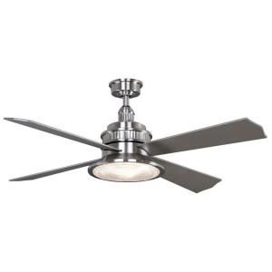Hampton Bay Valle Paraiso 52 In Indoor Brushed Nickel Ceiling Fan With Light Kit And Remote Control 14035 Ceiling Fan Brushed Nickel Ceiling Fan Ceiling Fan With Light