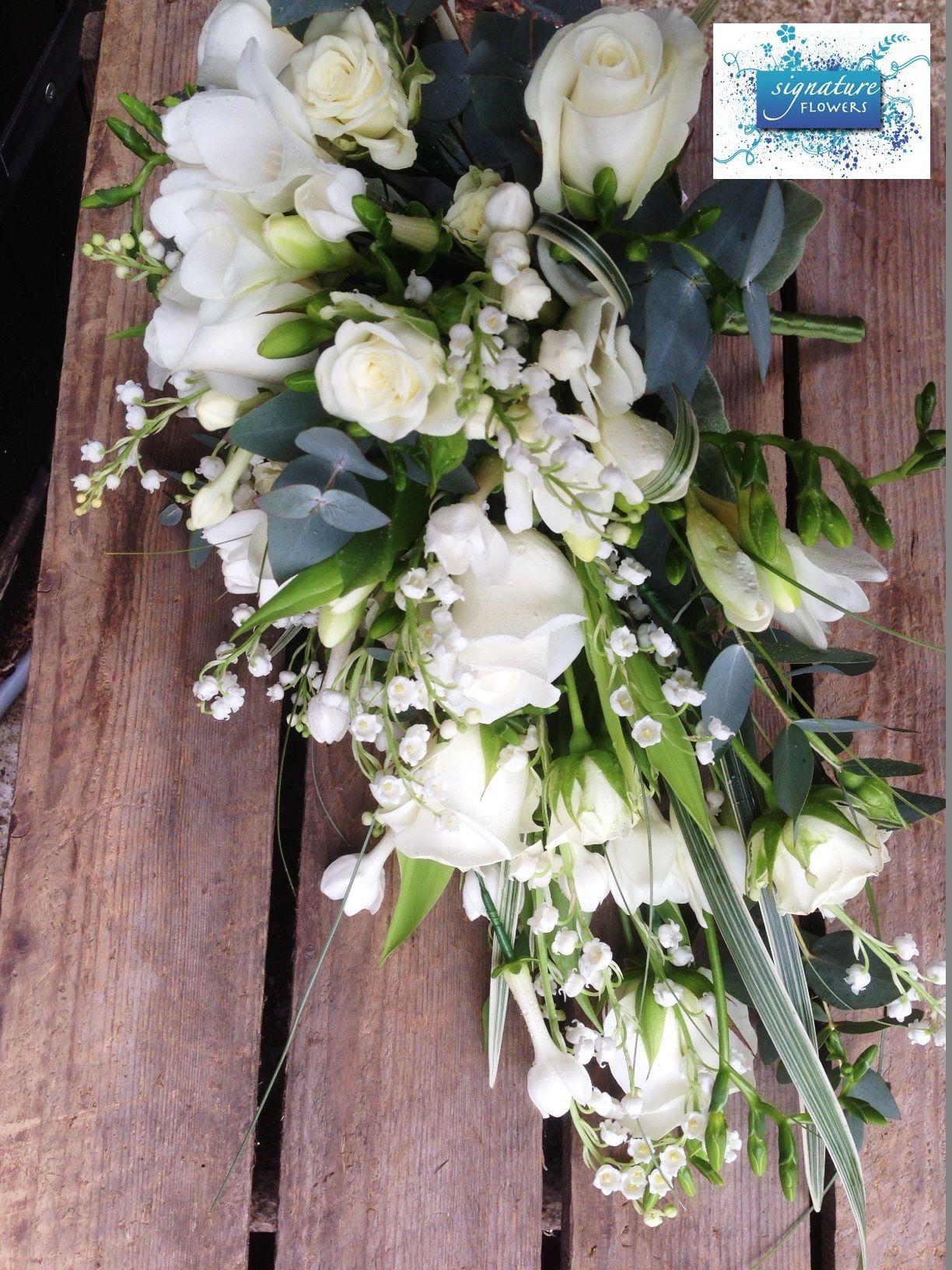 Lily Of The Valley Roses Freesia Stephanotis White Bridal Shower