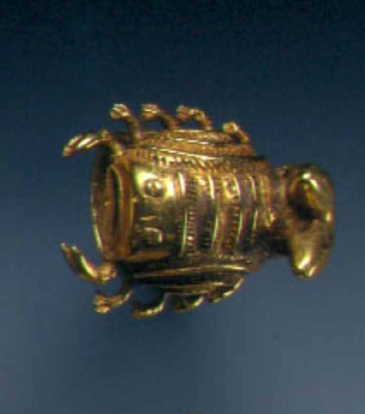 Ghana | Ring from the Ashanti people of Bonwire | Gold alloy