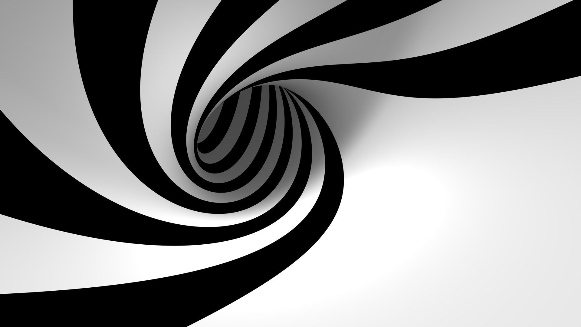 Rabbit Hole Vortex For Front Of Venue Black And White Abstract