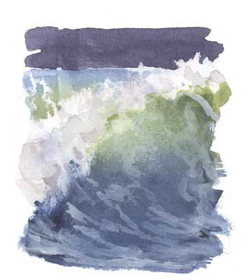 How To Draw Sea Foam Water Drawing Watercolor Wave Drawings