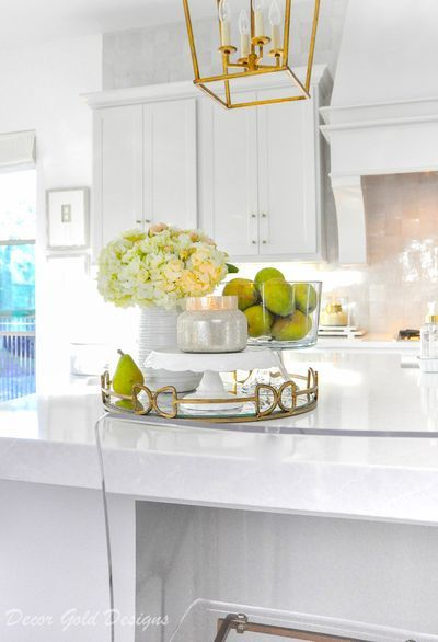 Beautiful kitchen countertop styling ideas Vignette home decor accessories #kitchendecor #decorating