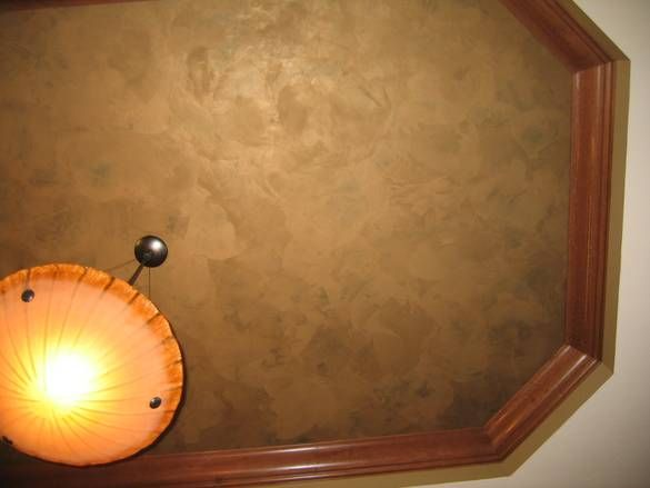 Faux Tray Ceiling Created With Paint And Trim Ceiling